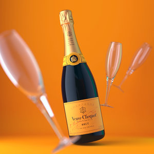 3d model veuve clicquot brut bottle