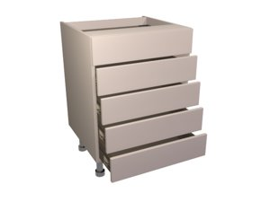 3d model drawer pack 5 600
