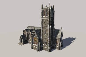gothic church 3d model