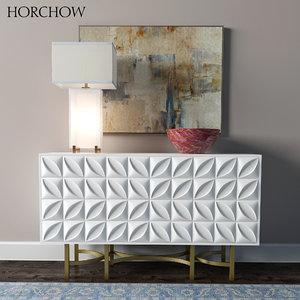 horchow barrington console block max