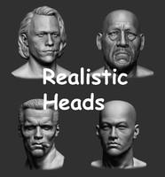 3d realistic heads model