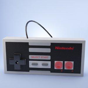 3d nintendo gamepad model