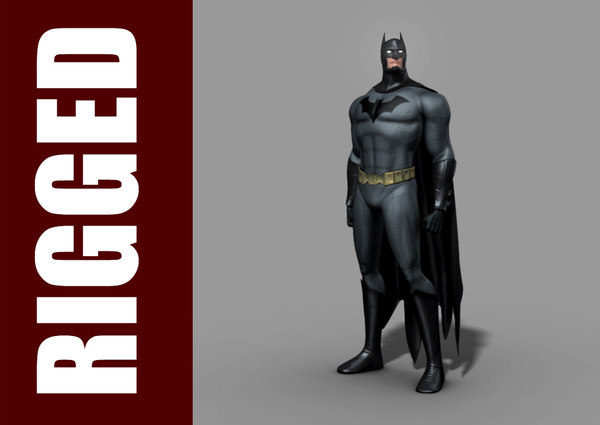 3d model batman rig character