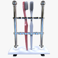 stand toothbrushes obj