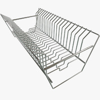 3d model of dish rack