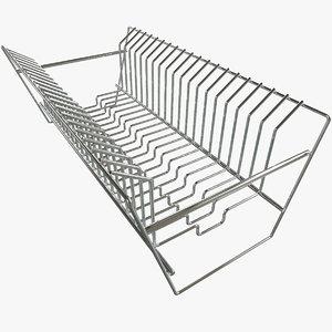 3d model of dish rack