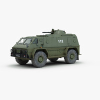 3d model russian gaz 3937 military vehicle