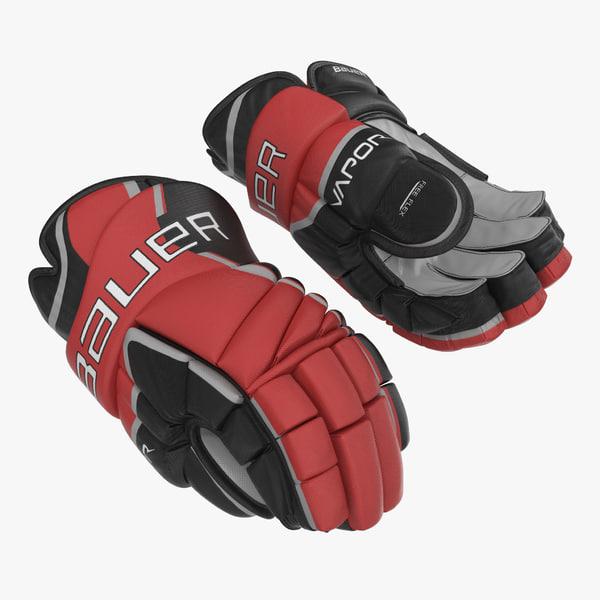 3d model hockey gloves bauer 2