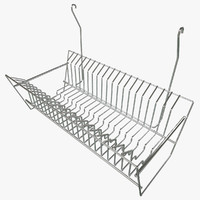3d model hanging dish rack