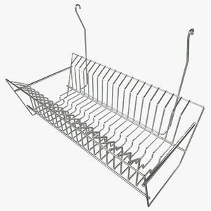 3d model hanging dish rack