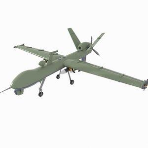 drone fighter 3d model