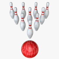 3d model bowling pin s