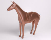 free sculpture horse saddle copper 3d model