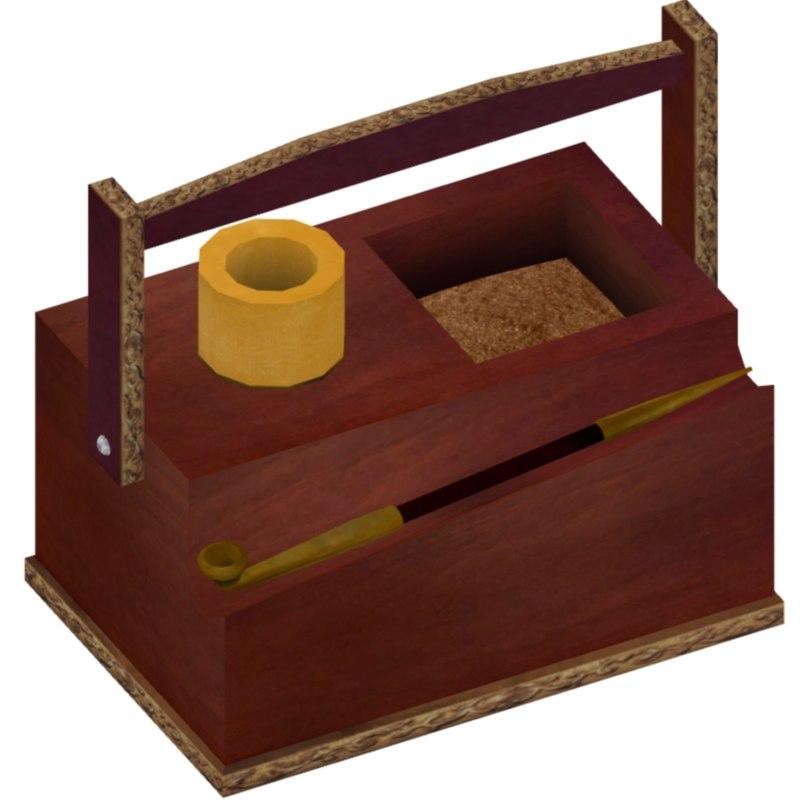 wooden 3d model