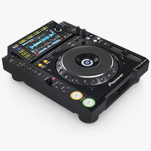 dj player pioner cdj-2000 3d model