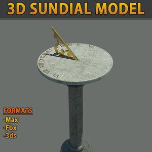3d sun dial model