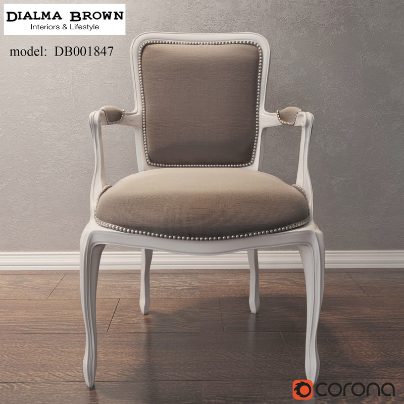 armchair dialma brown 3d model