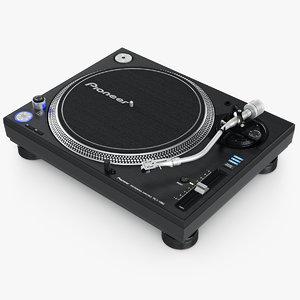 turntable pioneer plx-1000 3d obj