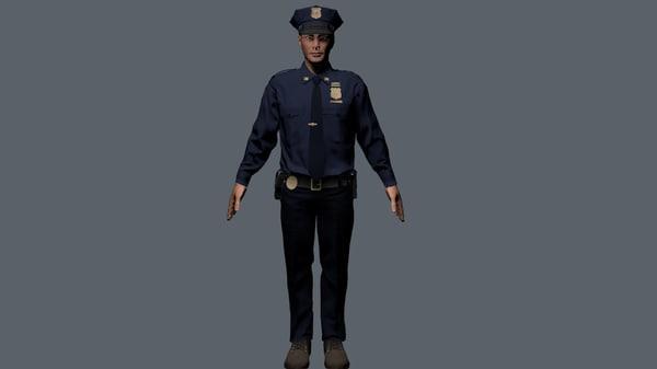 policeman 3d fbx