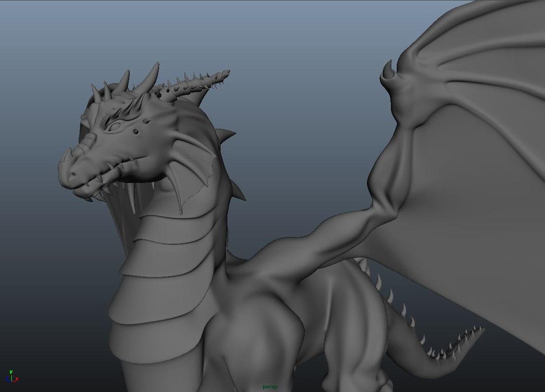 dragon animation 3d model