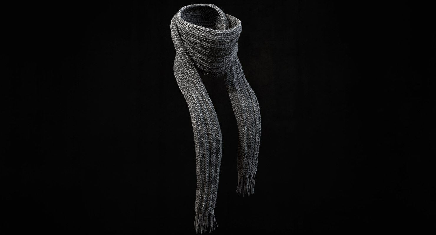 3d knitted scarf