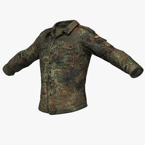 bundeswehr fildbluse combat shirt 3d max