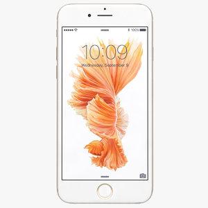 3d model apple iphone 6s gold