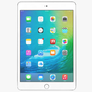 3d model apple ipad mini 4