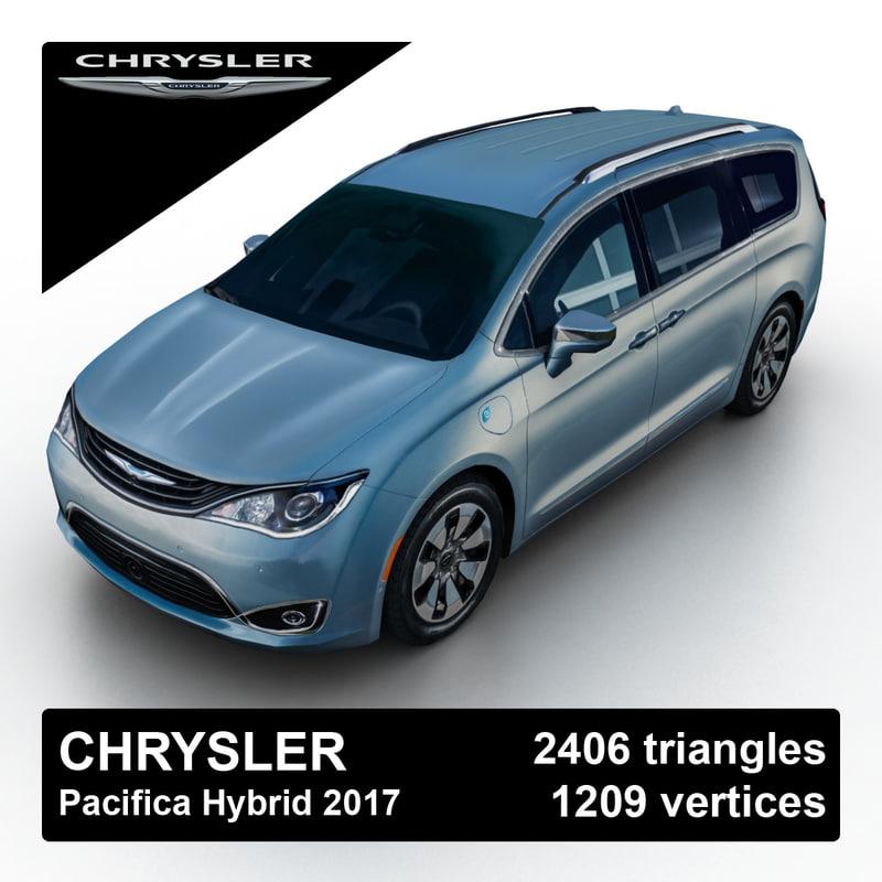 3d 2017 Chrysler Pacifica Hybrid