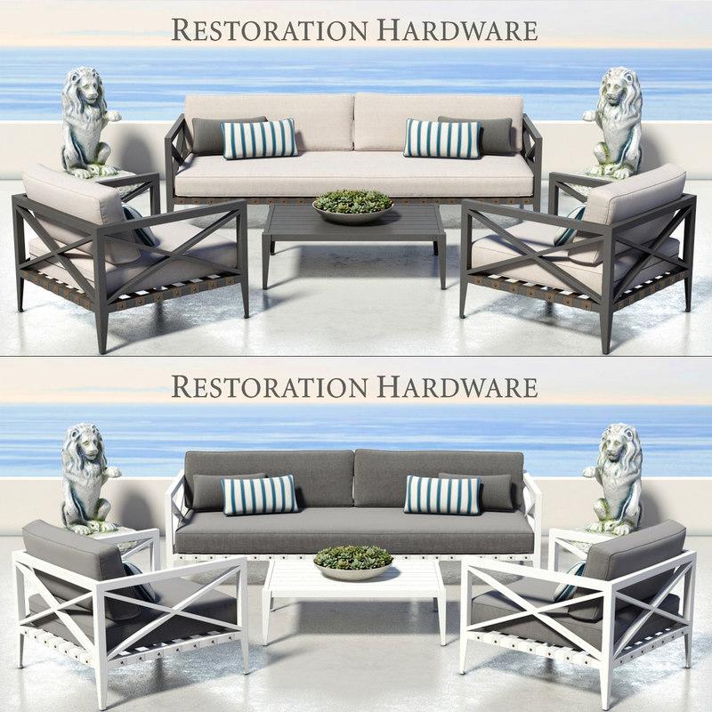 3d model outdoor furniture mustique
