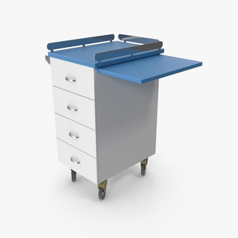 3d model metal cabinets m2