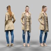 girl scarf 3d model