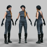 girl futuristic 3d model