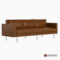 3d model sofa west elm