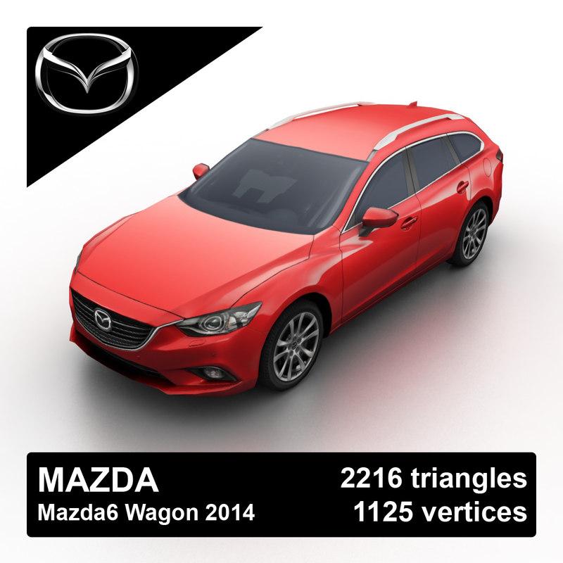 2014 mazda mazda6 wagon 3d max