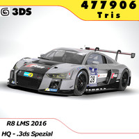 3d model 2015 audi r8 lms
