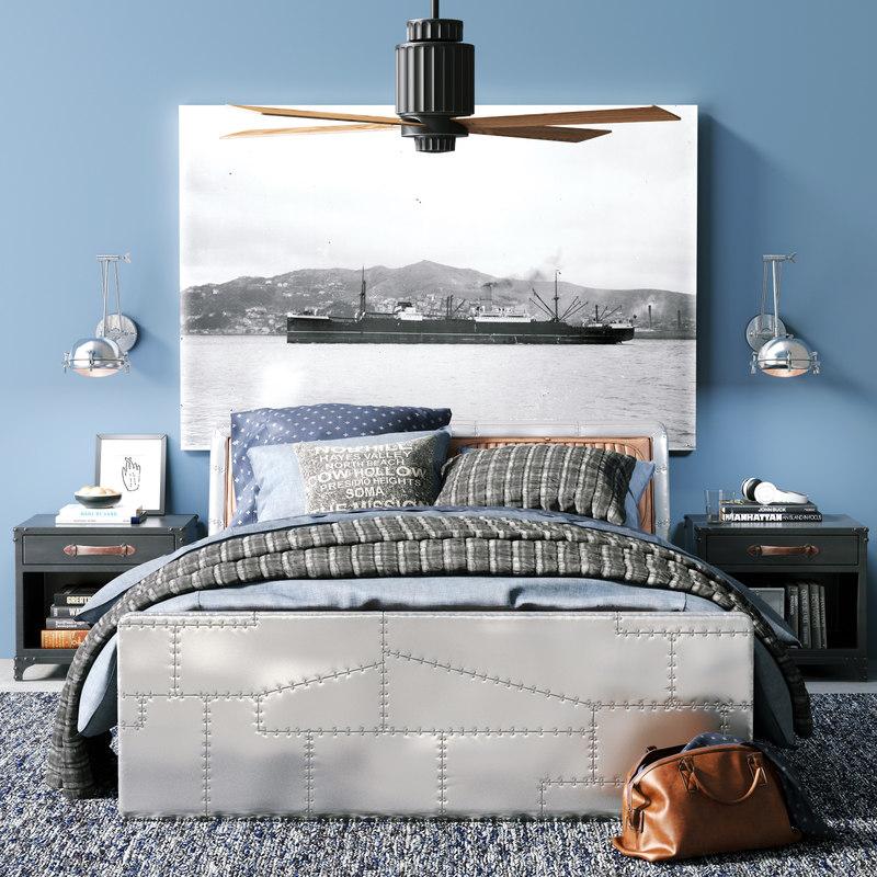 aviator storage bed 3d model