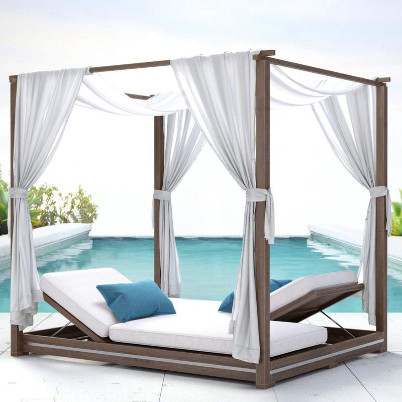 outdoor malta canopy double 3d model