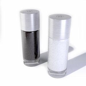 salt pepper shaker 3d 3ds