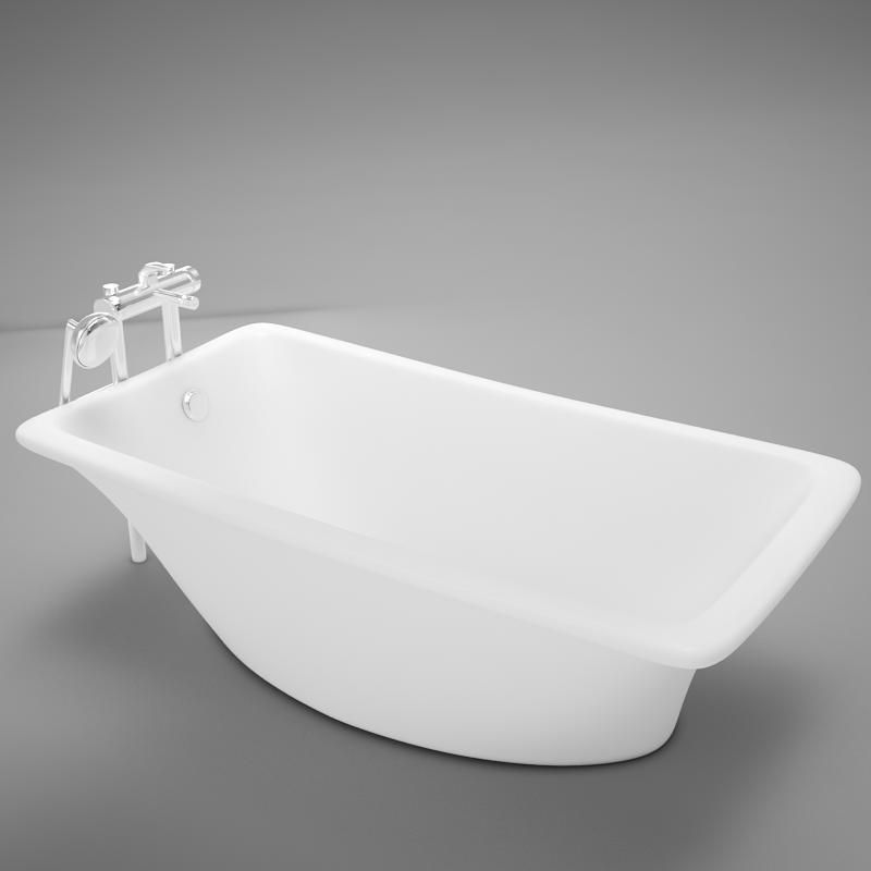 moder clasic hot tub 3d model
