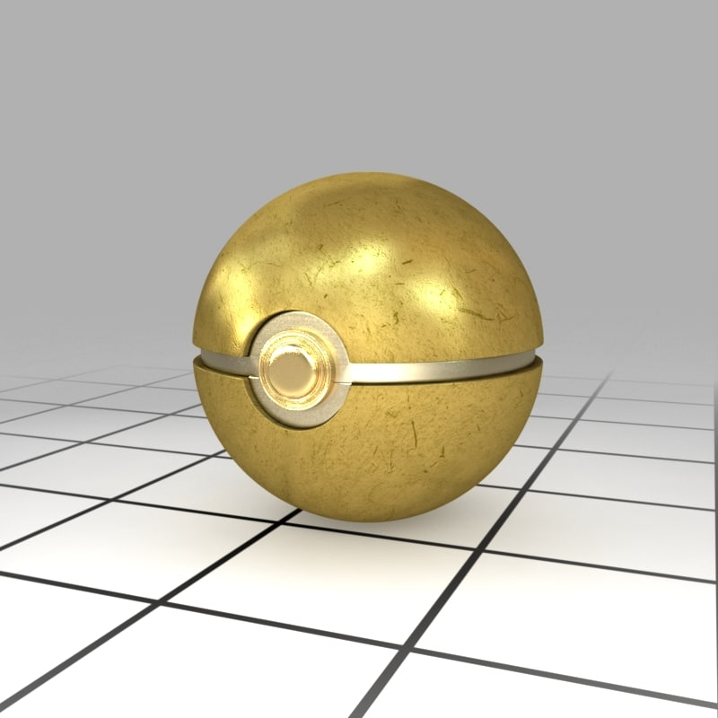 gold ball 3d model