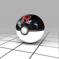 Team Rocket Ball (V1) (Pokeball)