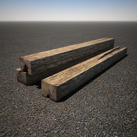 3d railroad tie model