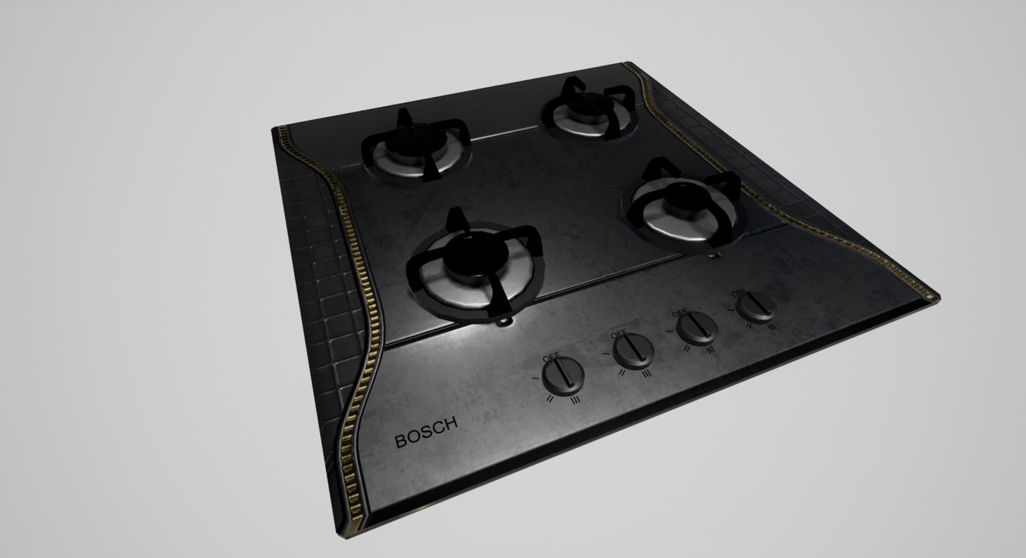 gas cooktop 3d max