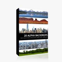 20 Alpha Backdrop Photo Pack