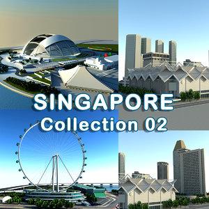 singapore building 3d model