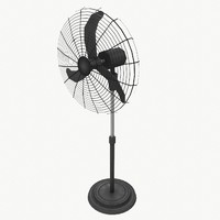 Pedestal fan type 2 low poly
