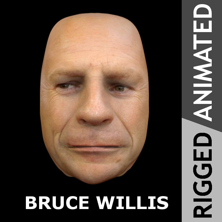 3d face bruce willis