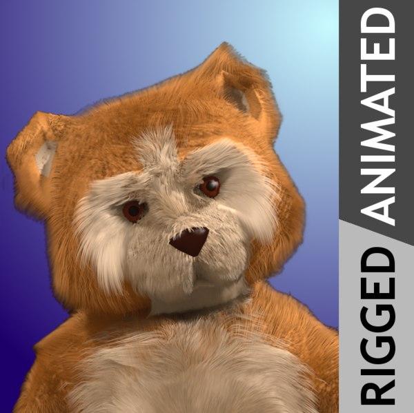 future toy teddy 3d model