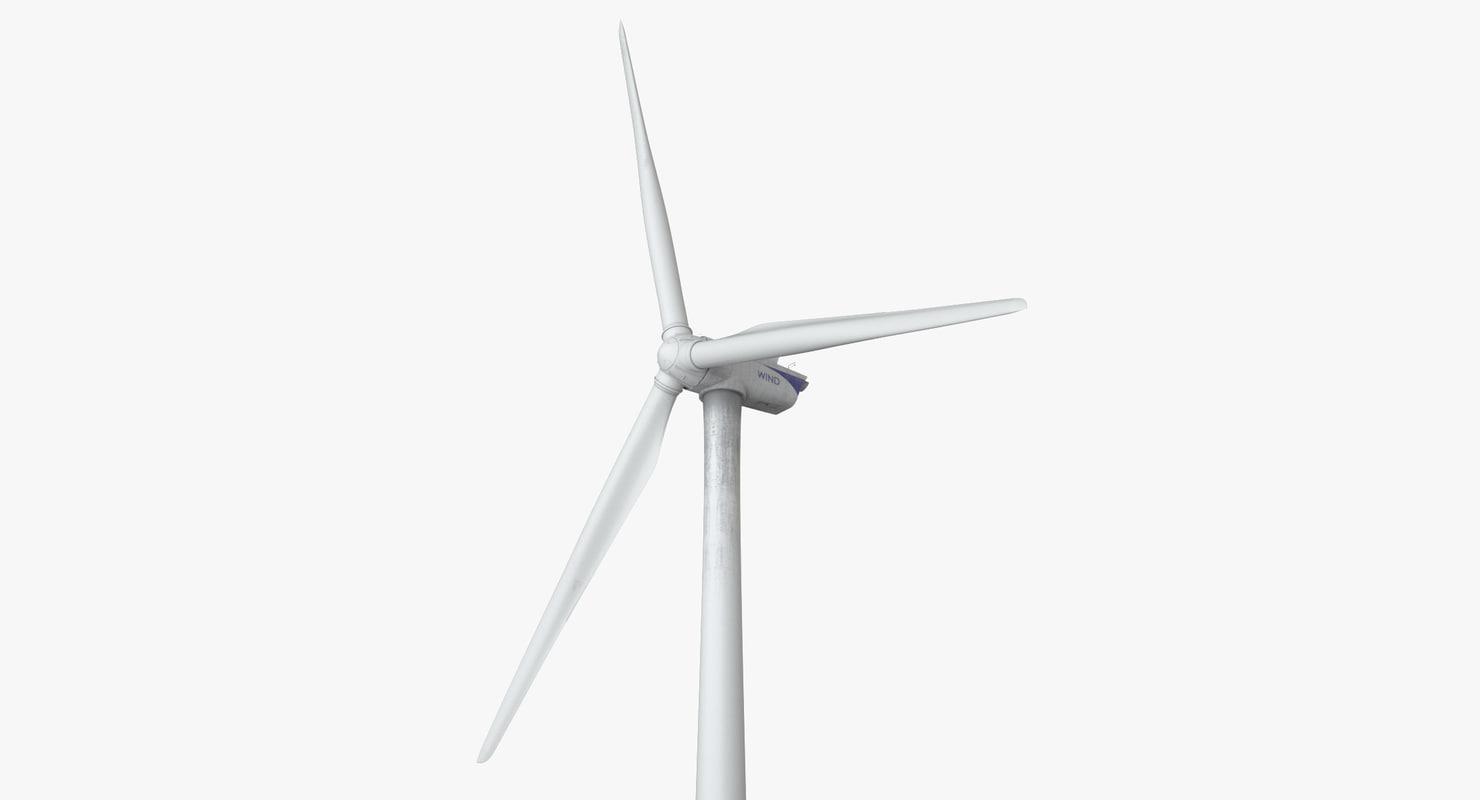 photoreal wind turbine 3d model
